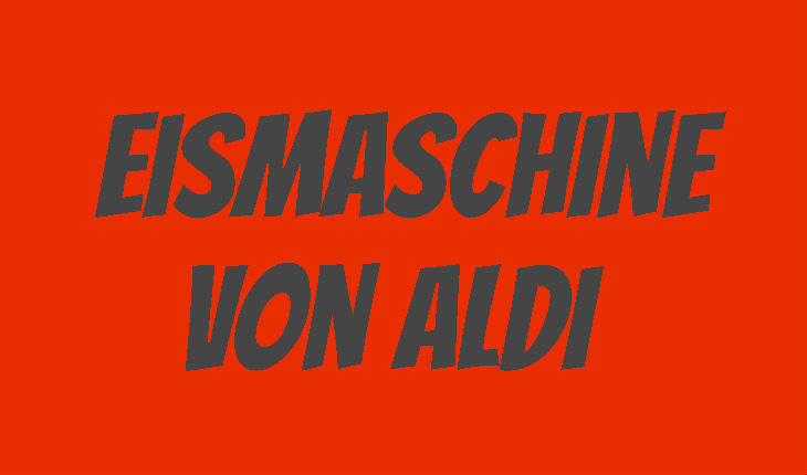 ALDI Eismaschine