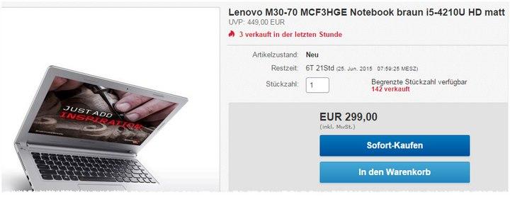 Lenovo M30 70 MCF3HGE