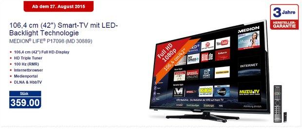 Medion Life P17098 (MD 30889) als ALDI-Nord-Angebot ab 27.8.2015 für 359 €