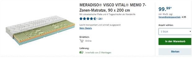 Meradiso VISCO VITAL MEMO 7-Zonen-Matratze