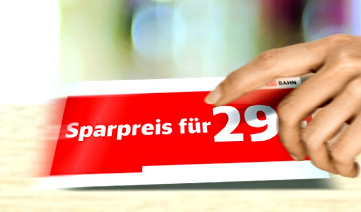 Bahn Sparpreis-Aktion