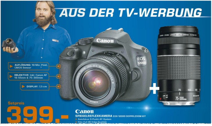 Canon EOS 1200D Doppelzoom-Kit