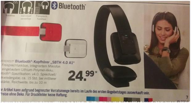 LIDL Bluetooth Kopfhörer Silvercrest SBTH 4.0