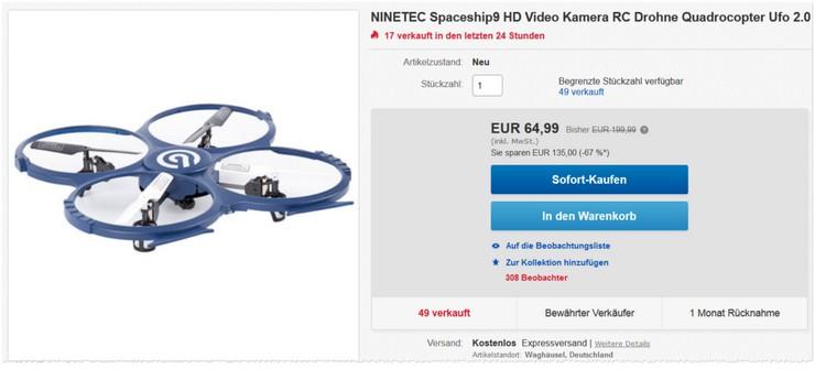Ninetec Drohne Spaceship9