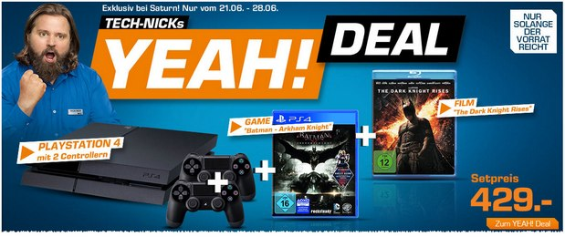 PlayStation 4 als Tech-Nicks Yeah! Deal! Batman-Set für 429 €