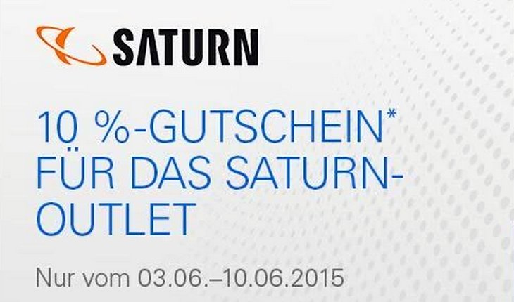 Saturn Outlet Gutschein