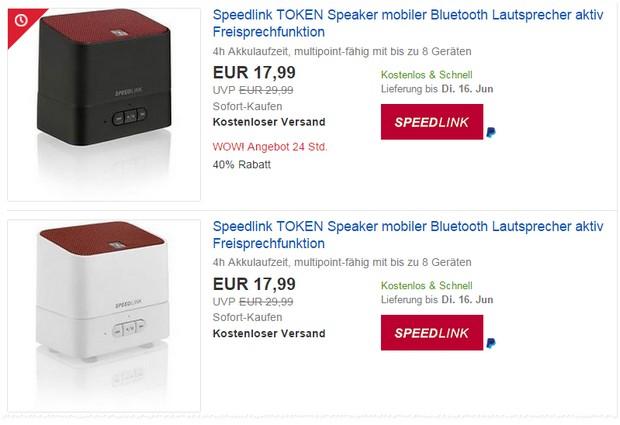 Speedlink Token zum Preis von 17,99 €