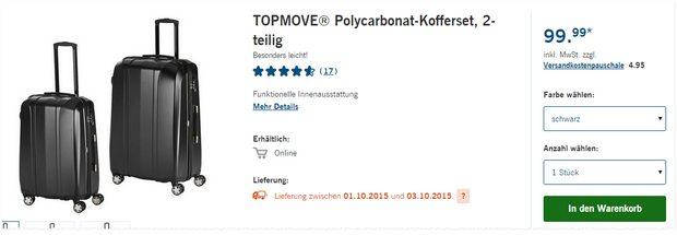 Topmove Koffer als LIDL-Angebot ab 1.10.2015