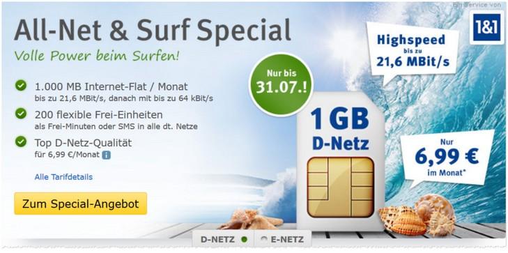 WEB.DE Mobilfunk-Tarif-Angebot