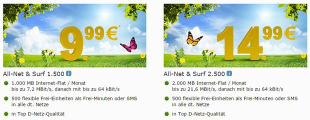 WEB.DE Mobilfunk-Tarif All-Net & Surf 1.500