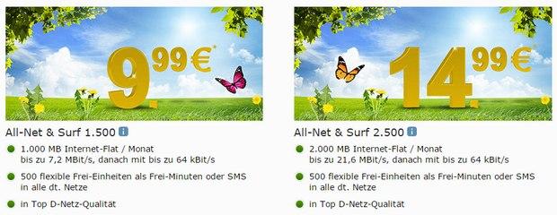 WEB.DE Mobilfunk-Tarif All-Net & Surf 1.500