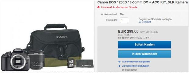 Canon EOS 1200D bei eBay