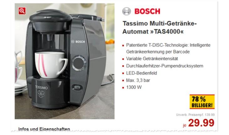 Bosch Tassimo Angebot bei Kaufland