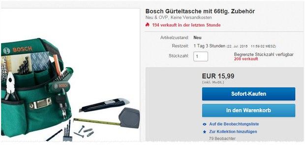 Bosch Werkeugtasche bei Conrad