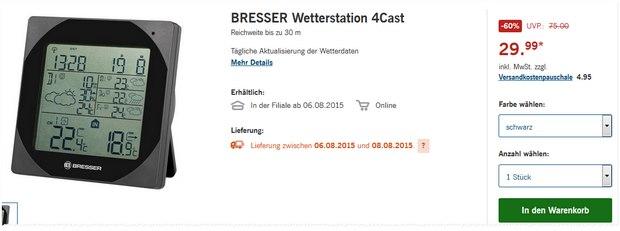 Bresser Wetterstation 4Cast im LIDL-Angebot ab 6.8.2015