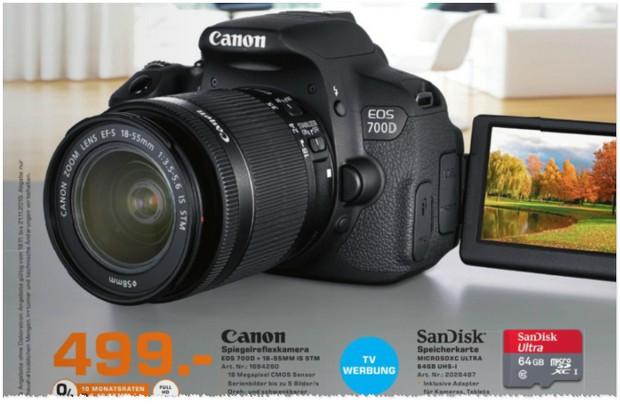 Canon EOS 700D aus der Saturn-Werbung