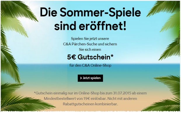 C&A Gutschein im Sale dank »Memory«-Spiel