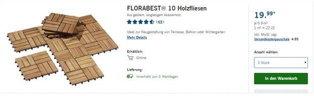 LIDL Holzfliesen