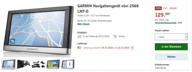 Navi Garmin nüvi 2568 LMT-D von LIDL