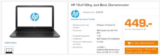 HP Notebook 15-af133ng