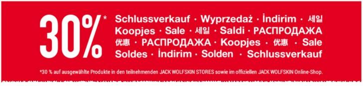 Jack Wolfskin Sommerschlussverkauf