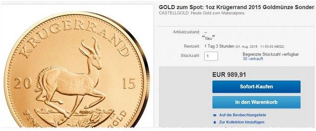 Krugerrand-Münze