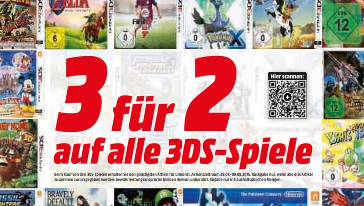 Media Markt 3 für 2 Aktion