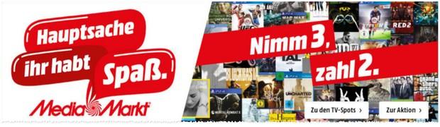 Media Markt Nimm 3, zahl 2 Aktion Oktober 2015