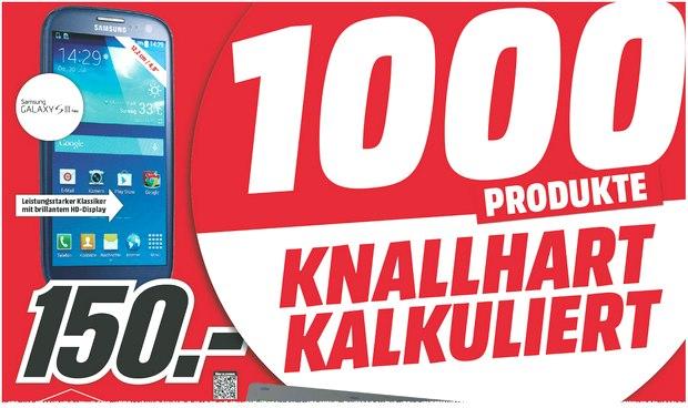Im Media-Markt-Prospekt knallhart kalkuliert: Samsung Galaxy S3 Neo für 150 €
