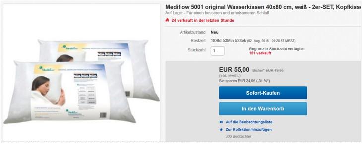 Mediflow 5001 Wasserkissen