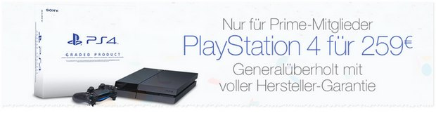 PlayStation 4 generalüberholt am Prime Day für 259 €