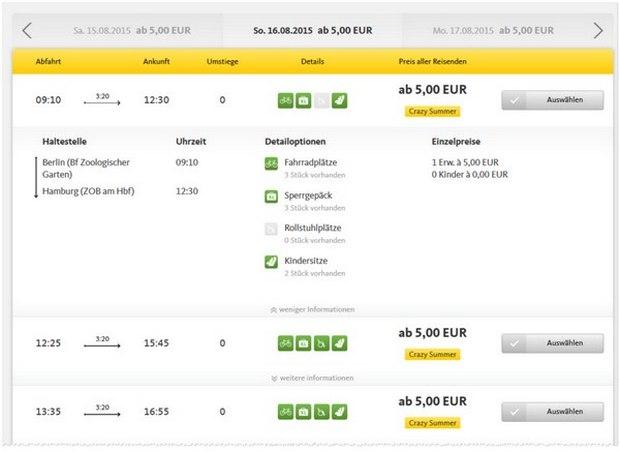 Postbus-Tickets ab 5 €