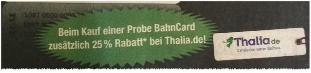 Probe BahnCard in der BILD Werbung