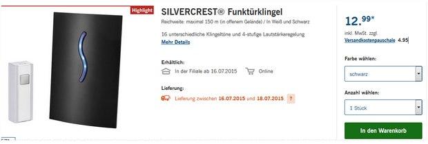 Silvercrest Funktürklingel