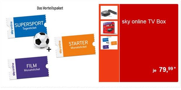 Sky Online-TV-Box als Vorteilspaket bei ALDI Süd ab 30.7.2015