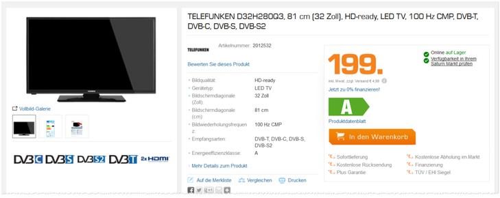 telefunken d43f278n3cwi real angebot ab 4. Black Bedroom Furniture Sets. Home Design Ideas