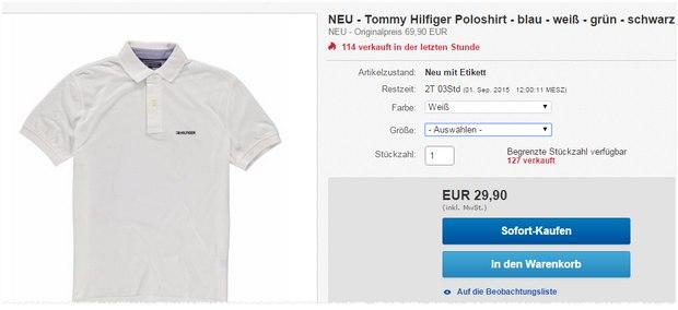 Tommy Hilfiger Polo unter 30 € - und den 30% Gutschein könnt ihr auch noch einlösen!