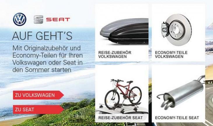Volkswagen-Markenwelt bei eBay
