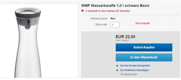 WMF-Wasserkaraffe bei Media Markt für 22 €