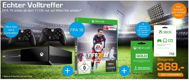 Xbox One + FIFA 16 vorbestellen bei Saturn