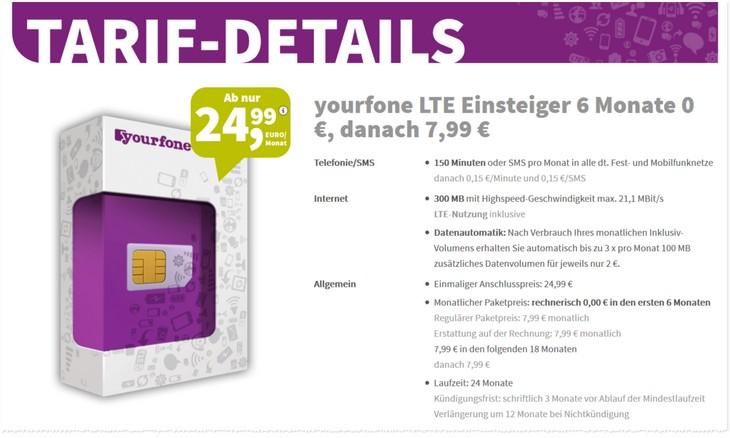 Yourfone LTE-Tarife
