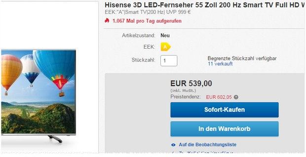 Hisense LTDN55K390