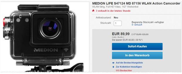 Medion Life Action-Cam