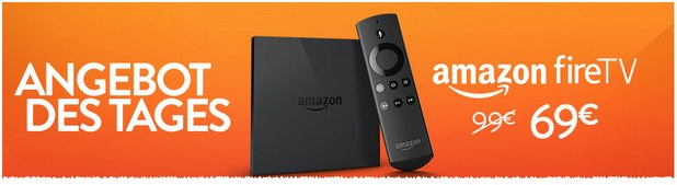 Amazon Fire TV als Amazon-Montagsangebot am 17.8.2015 nur 69 €