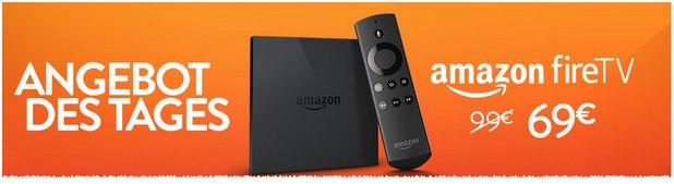 Amazon Fire TV als Amazon-Montagsangebot am 17.8.2015 nur 69 €