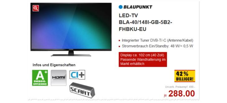 Blaupunkt Fernseher BLA-40/148I-GB-5B2-FHBKU-EU