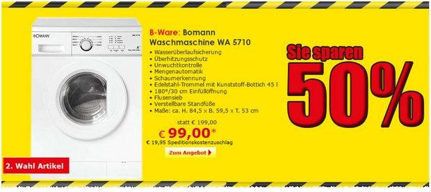 Bomann Waschmaschine WA 5710 als B-Ware für 99 € im Netto Online-Shop