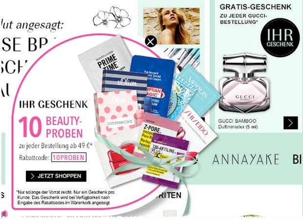 Douglas Gratisgeschenke: 10 Beauty-Proben extra!