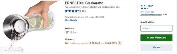 Ernesto Glaskaraffe