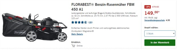 Florabest / LIDL Rasenmäher FBM 450 A1